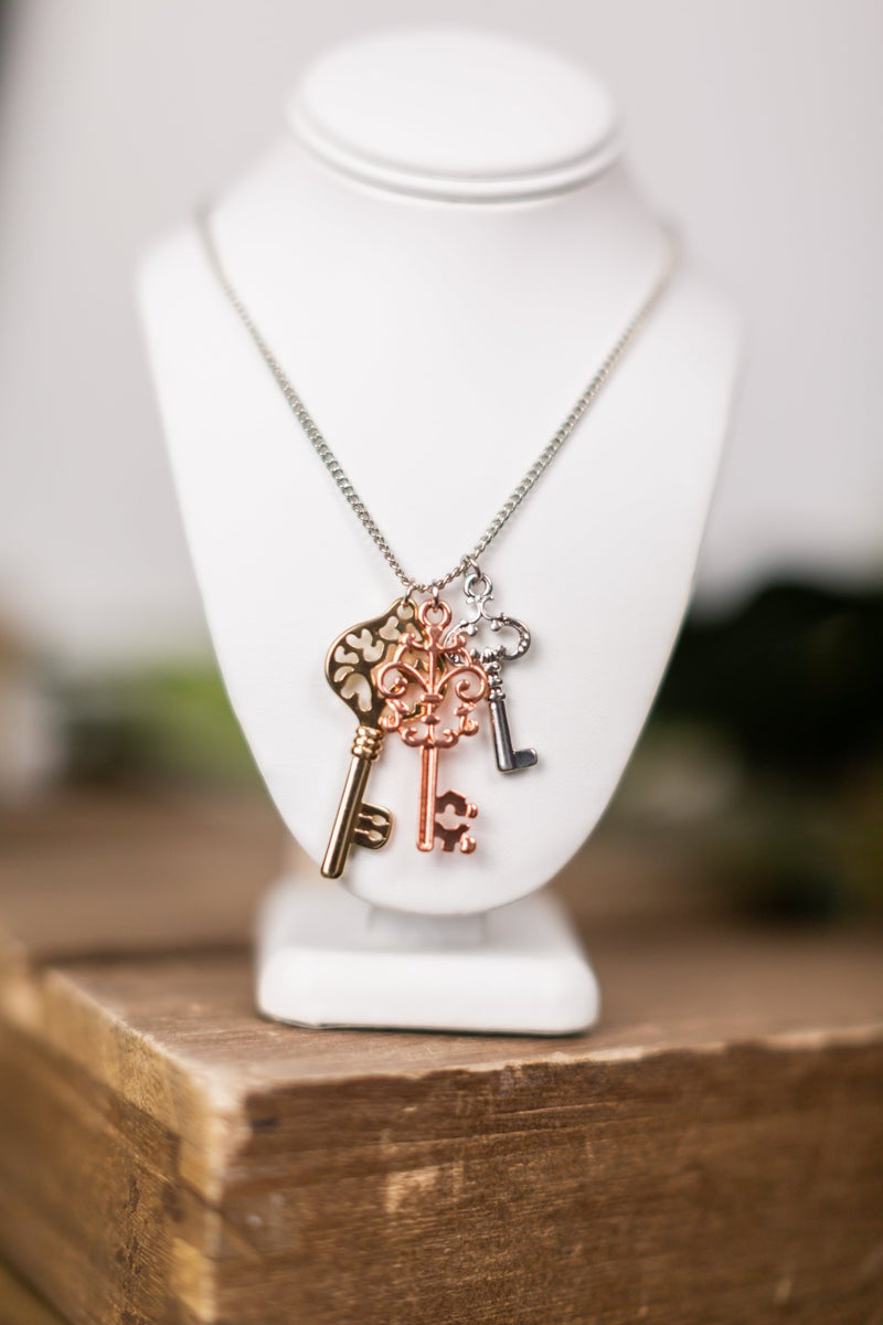 Key Under The Mat Necklace