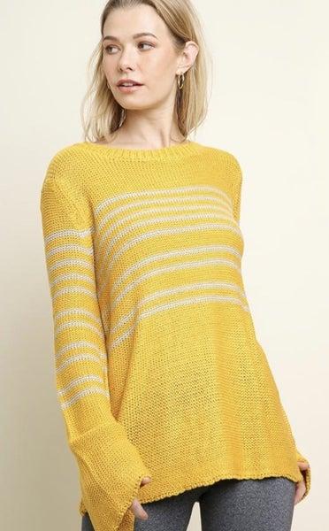 Honey Stripe Sweater by Umgee