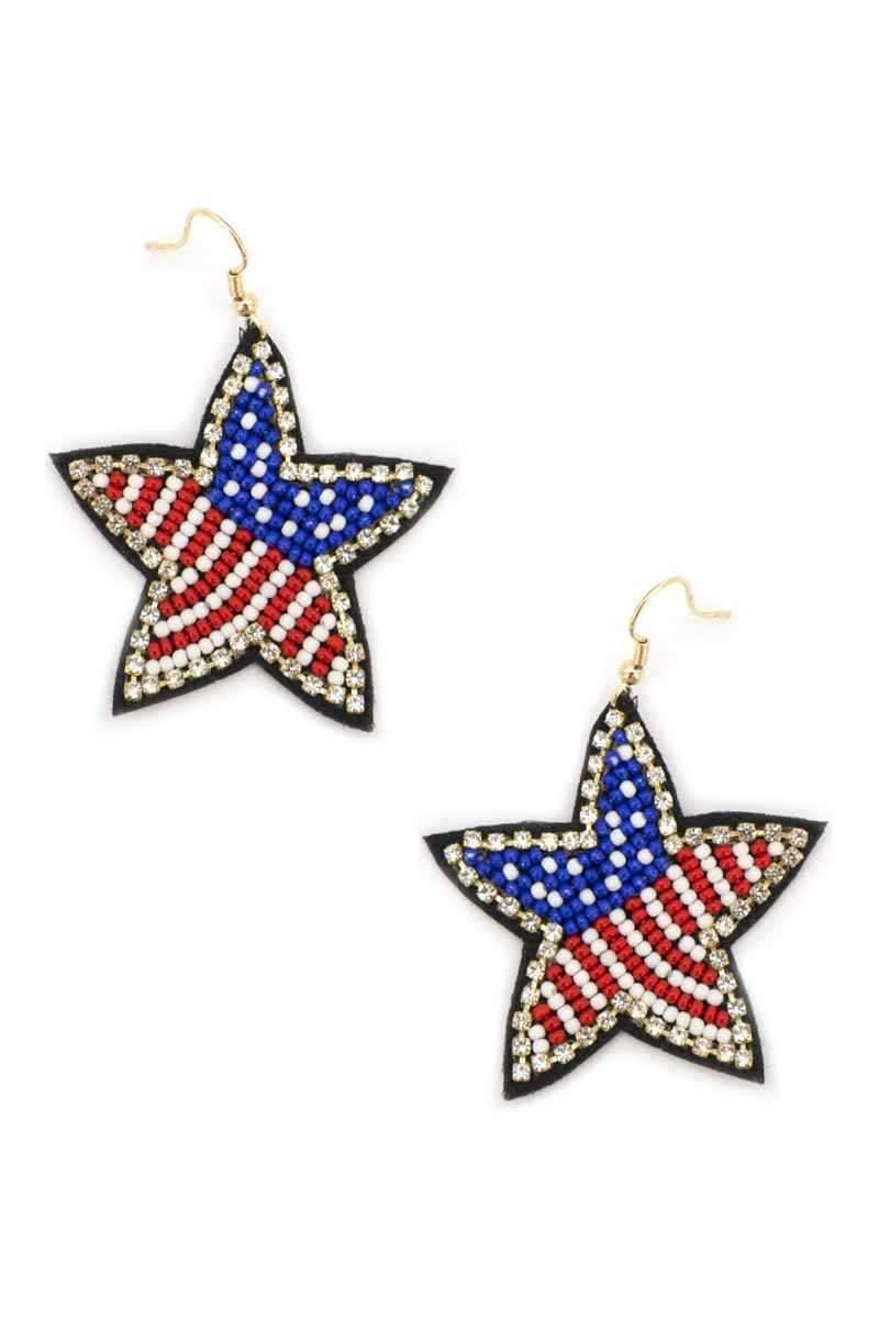 USA Proud Star Earrings