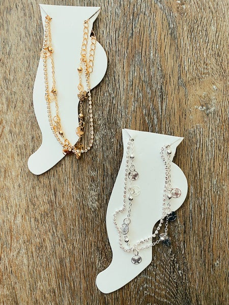 Glams and Flutters Butterfly Anklet