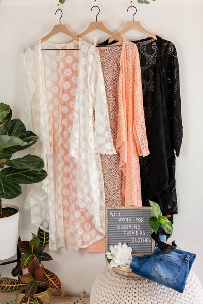Plus All The Lace Duster