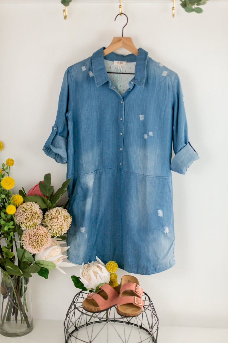 Embrace The Day Denim Dress by Umgee