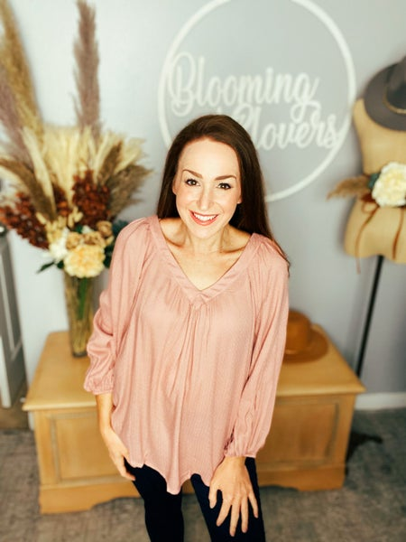 Blushed A Lot Blouse by Mustard Seed