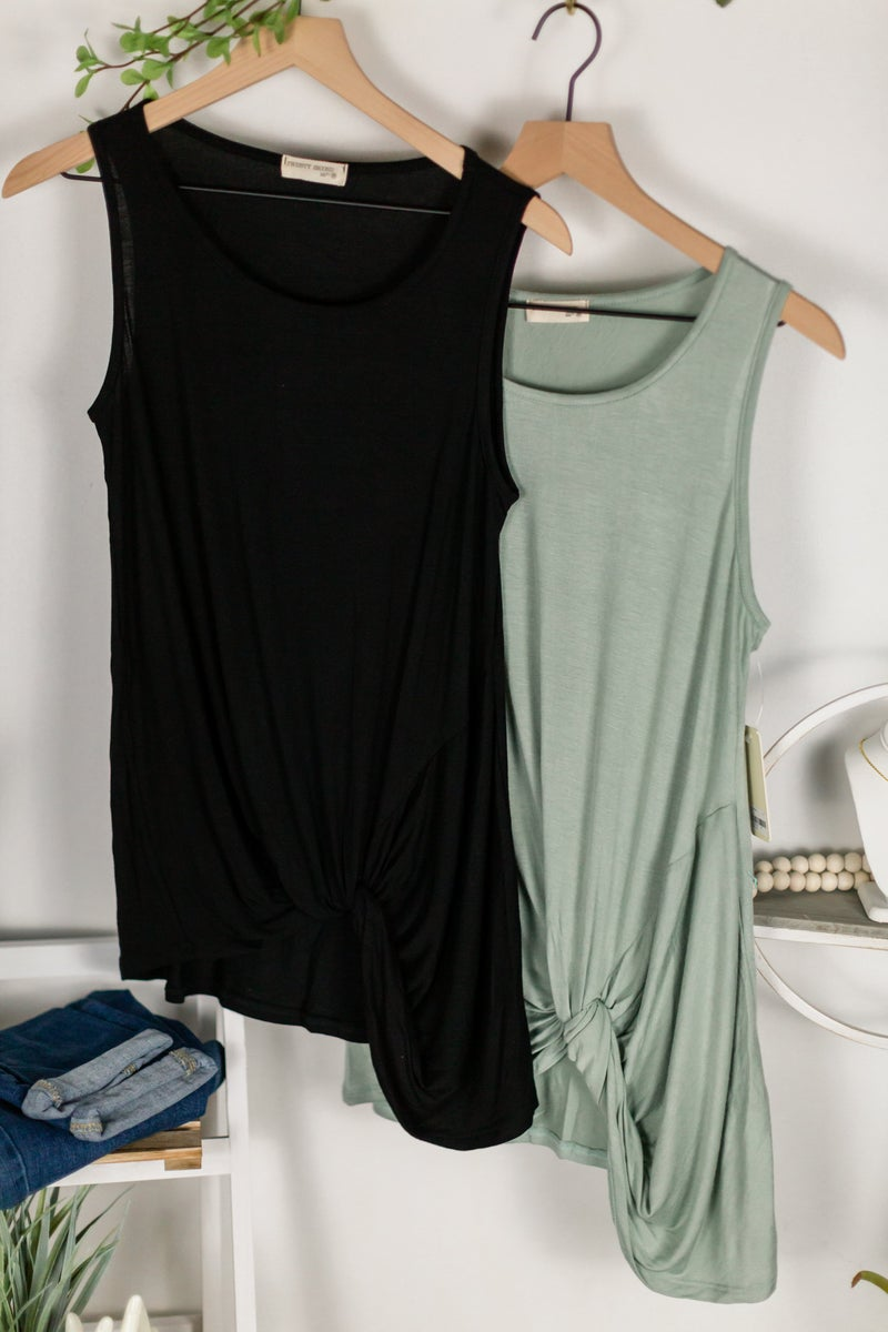Doorbuster: Twisty Vibes Sleeveless Top by 22nd