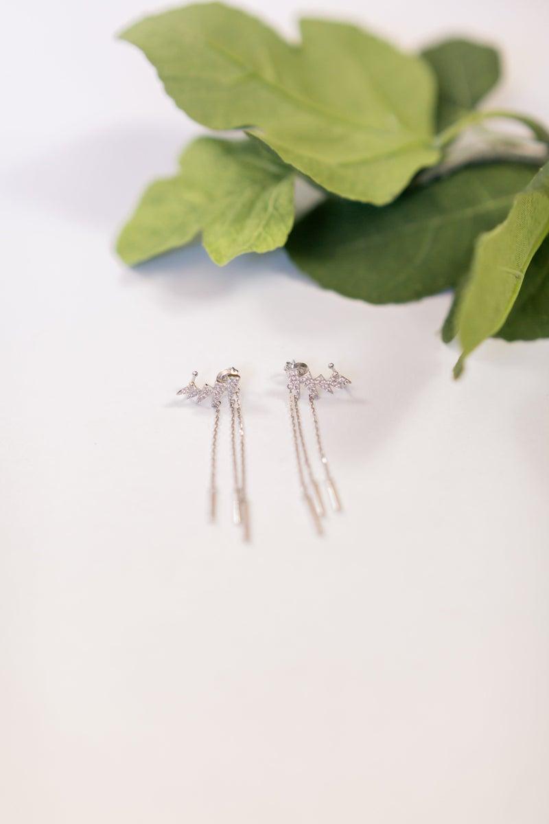 Sterling Silver Jolted Earrings