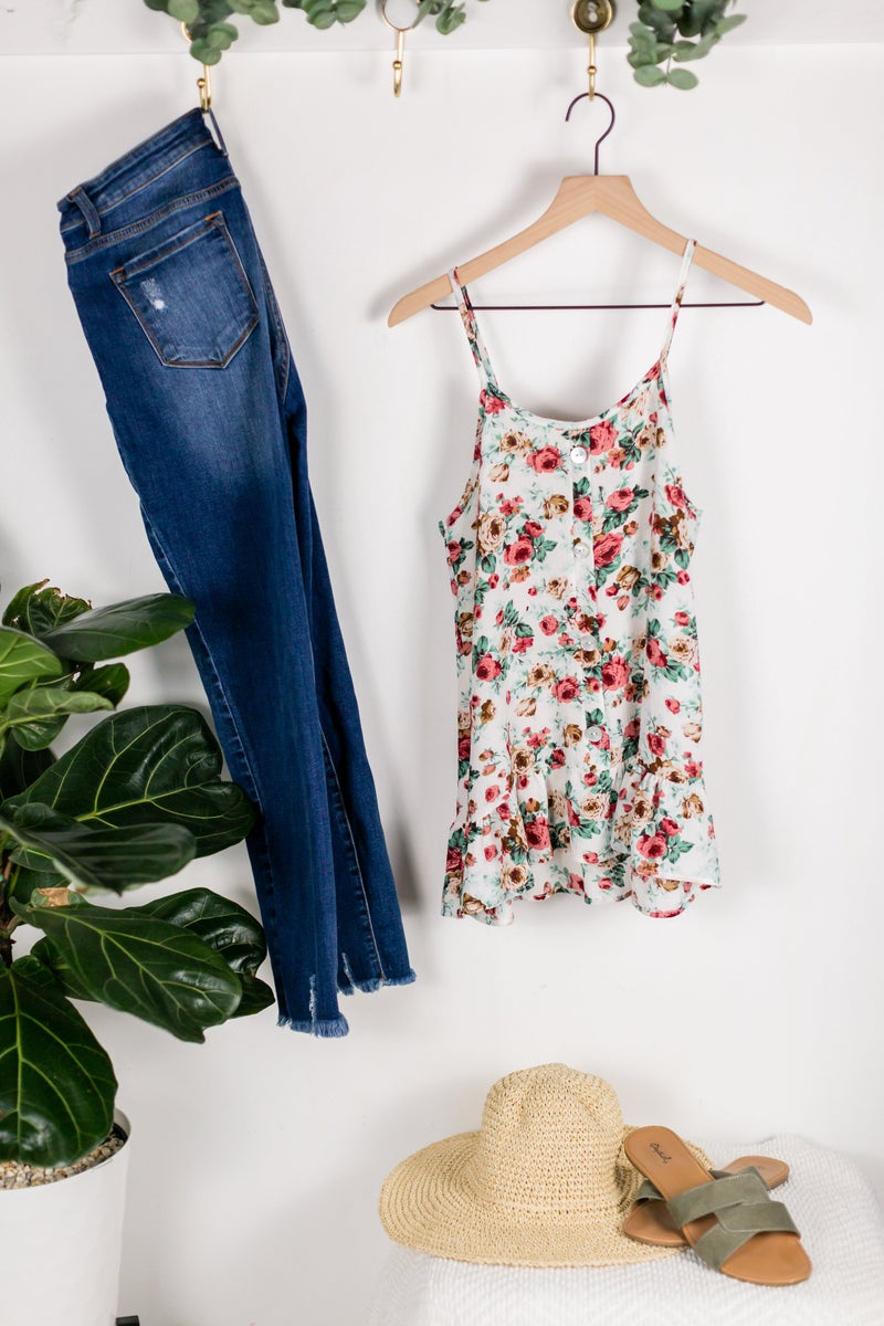 It's Finally Friday Floral Cami by 22nd