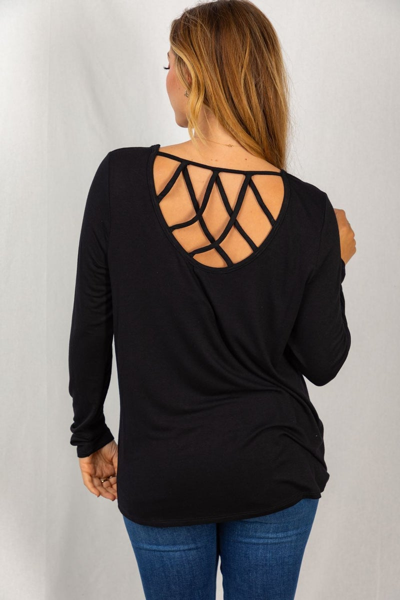 Raelyn Detailed Back Top by White Birch