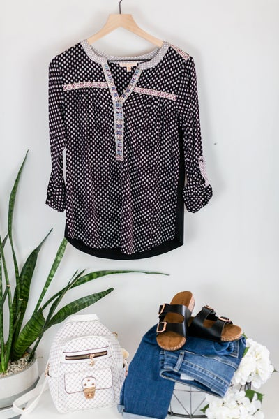 Spirit Lifting Blouse by Skies Are Blue