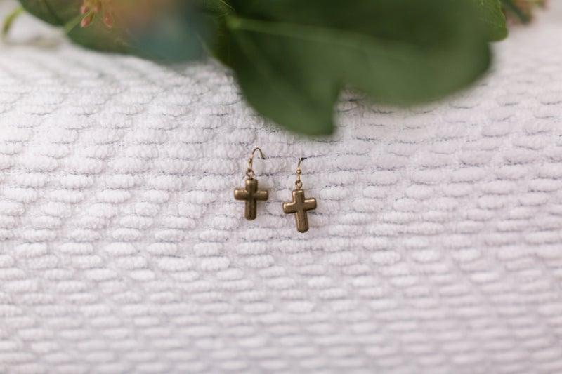 Simple Cross Earrings