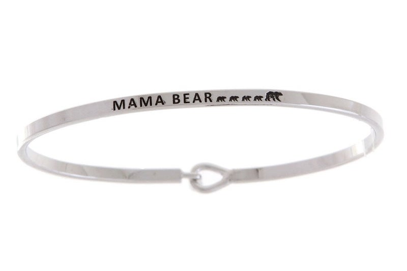 Silver Mama Bear with 4 Cubs Bracelet