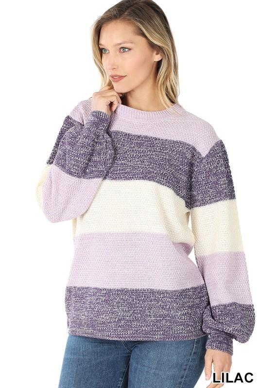 Doorbuster: Lilac Stripe Sweater