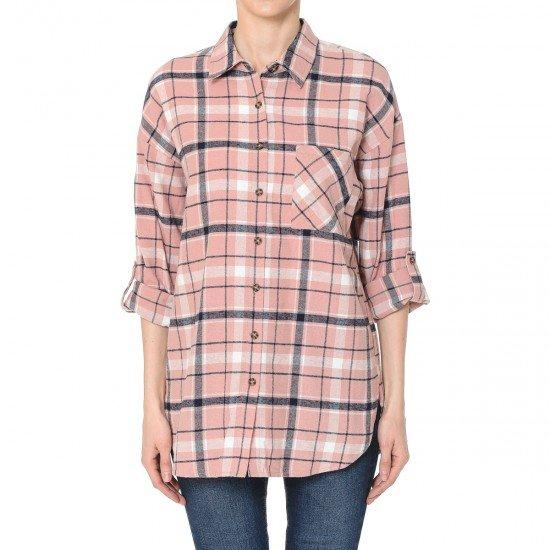 The Perfect Flannel in Blush