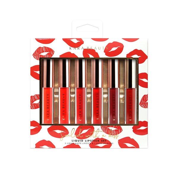 Sealed with a Kiss Liquid Lipstick Set by Kara Beauty