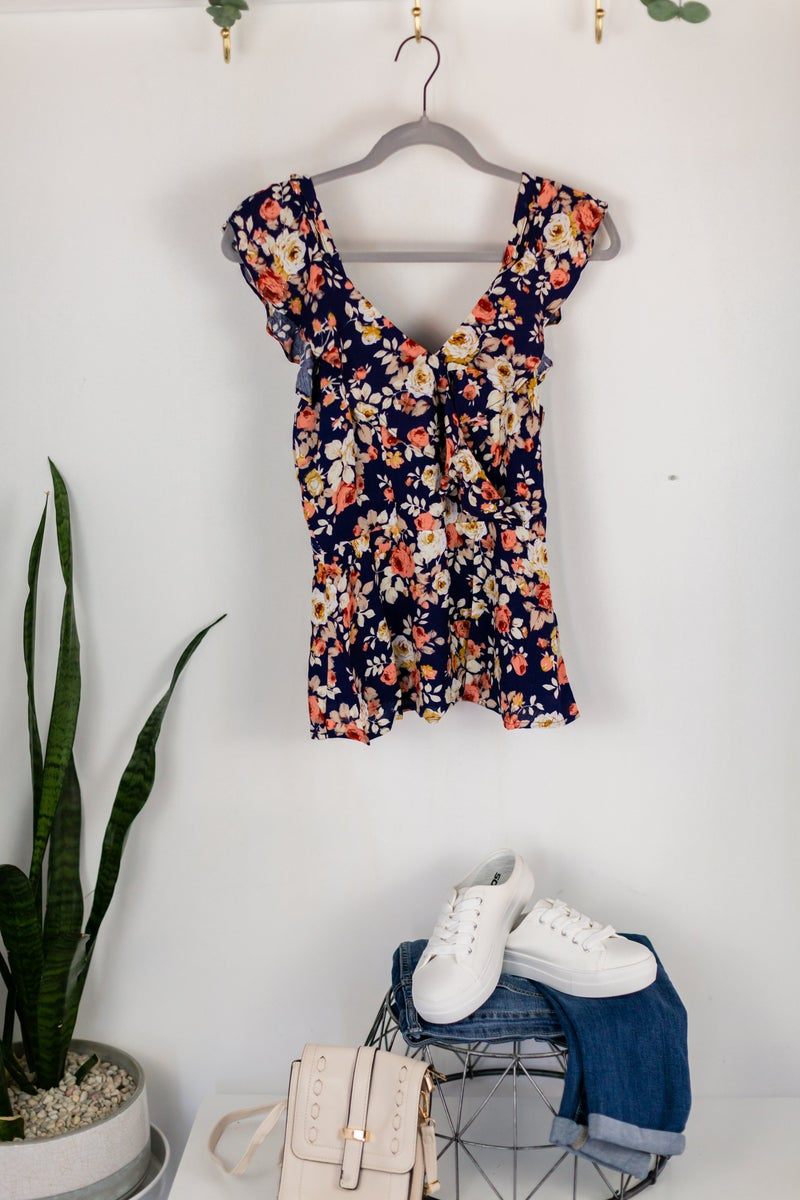 Botanic Time Sleeveless Blouse by Skies Are Blue