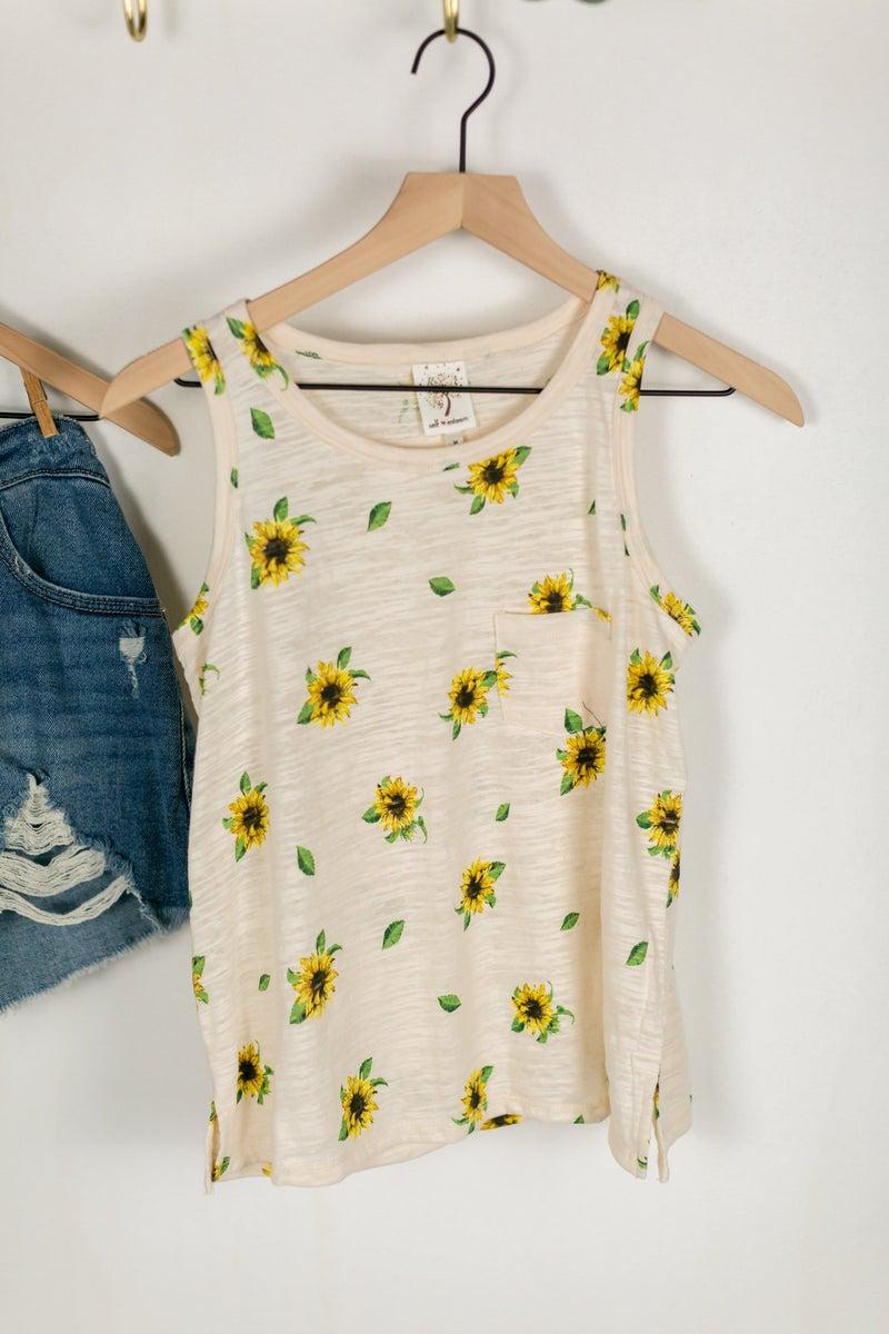 Girls Sunflower Tanks