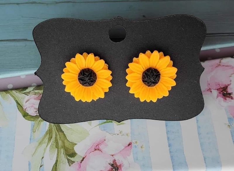 Sunny Days Are Coming Sunflower Earrings