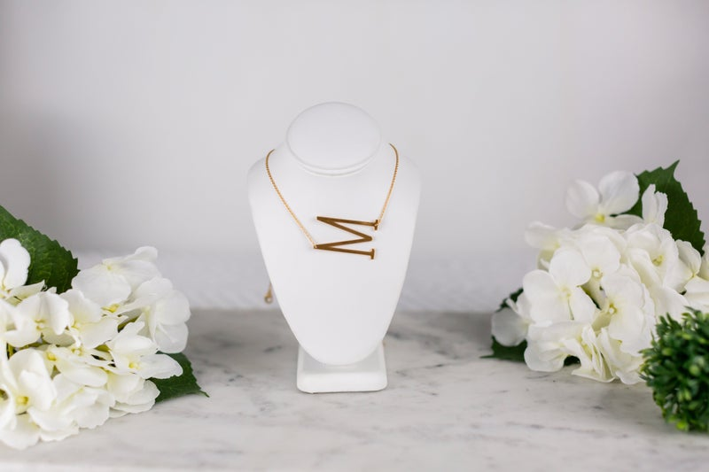 Sliding In Initial Necklace