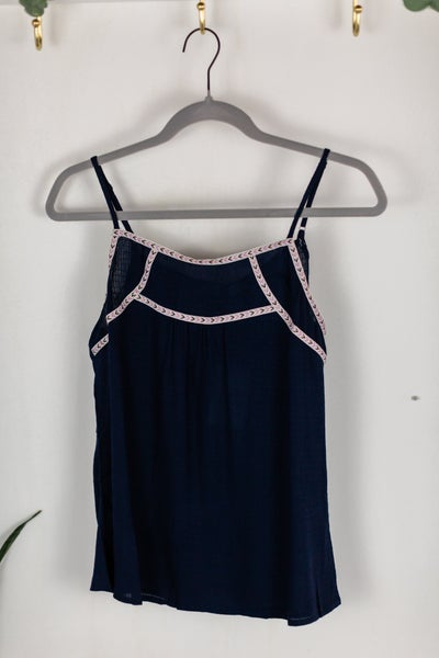 Navy When The Sun Shine Cami by Skies Are Blue