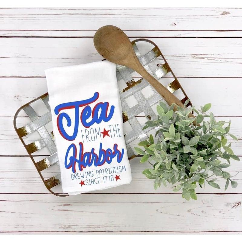 Tea From The Harbor Tea Towel