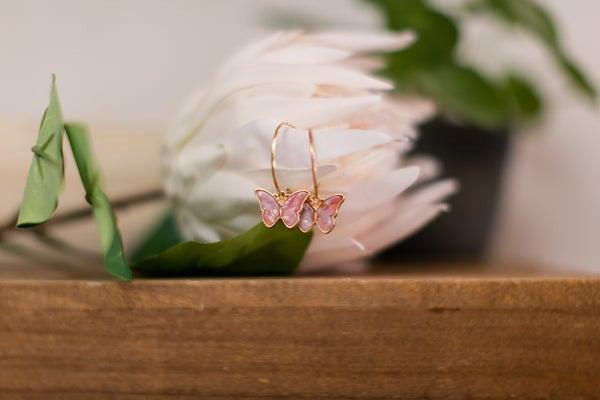 Flutter Away Butterfly Hoops