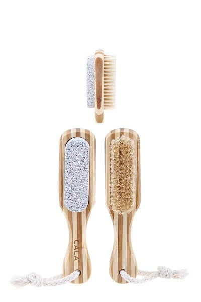 Squeaky Clean Toes Bamboo Brush