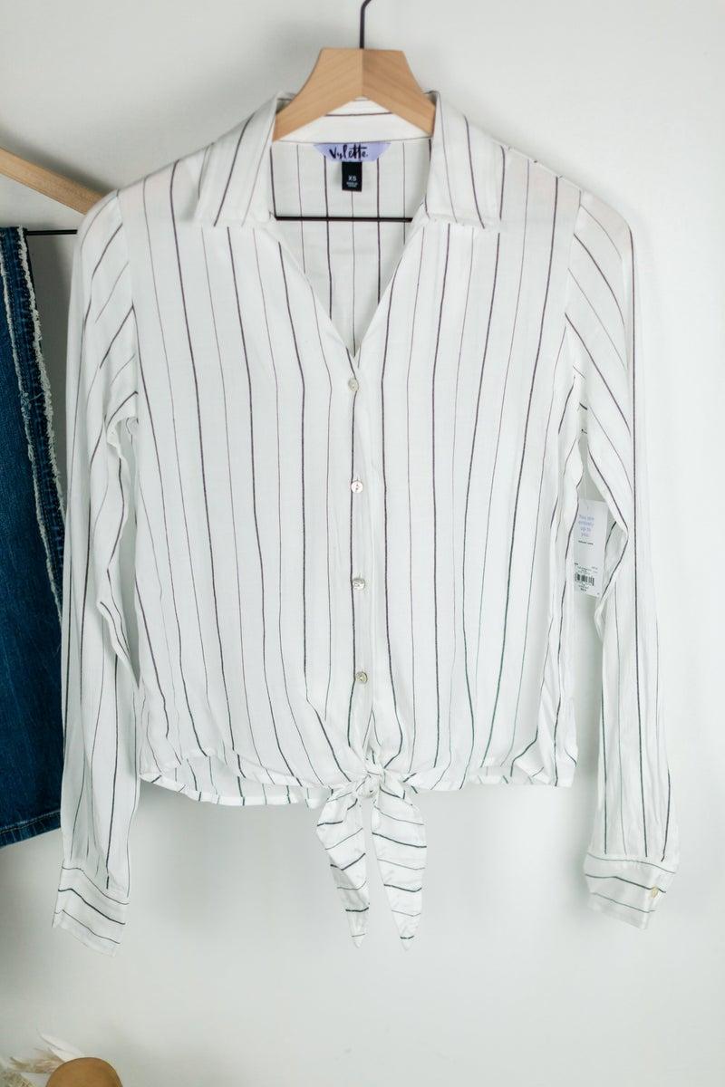 Trend Seeker Stripe Blouse