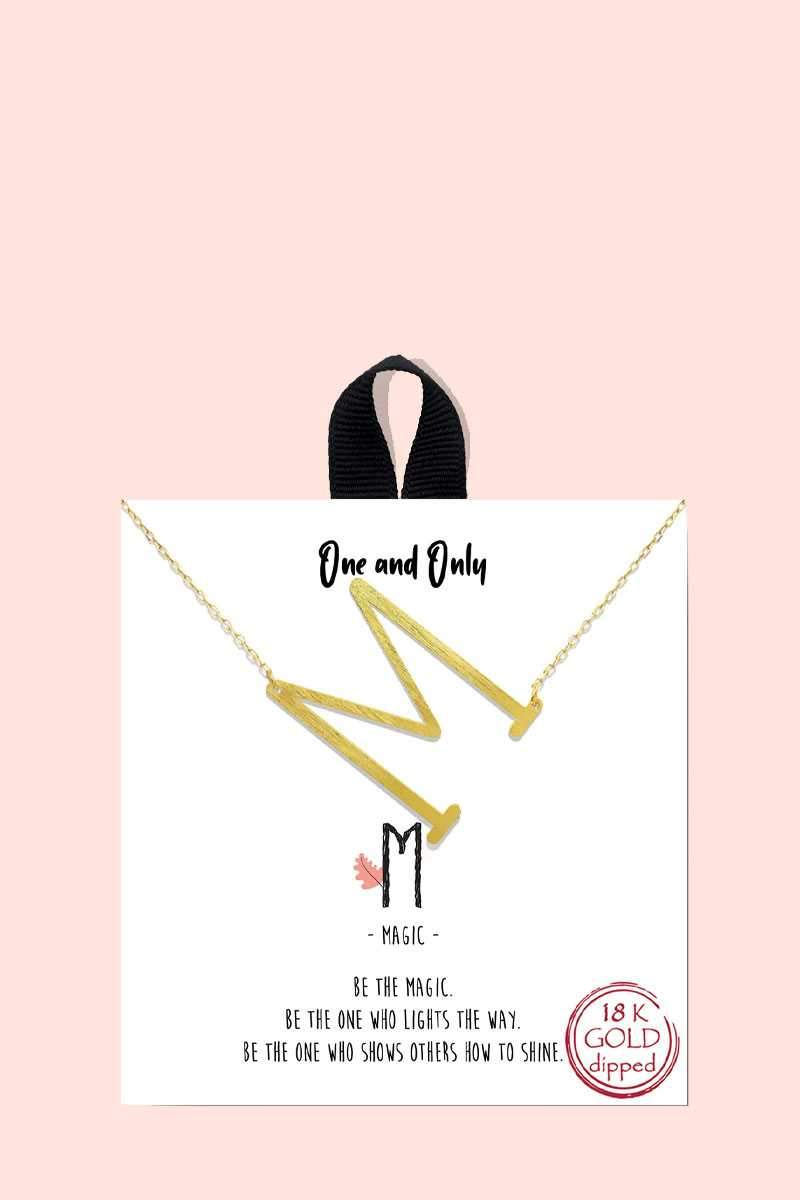 One and Only Initial Necklace