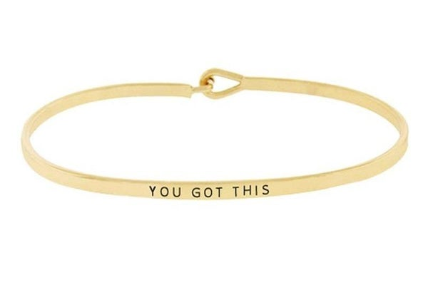 Gold You Got This Simple Stamped Bracelet