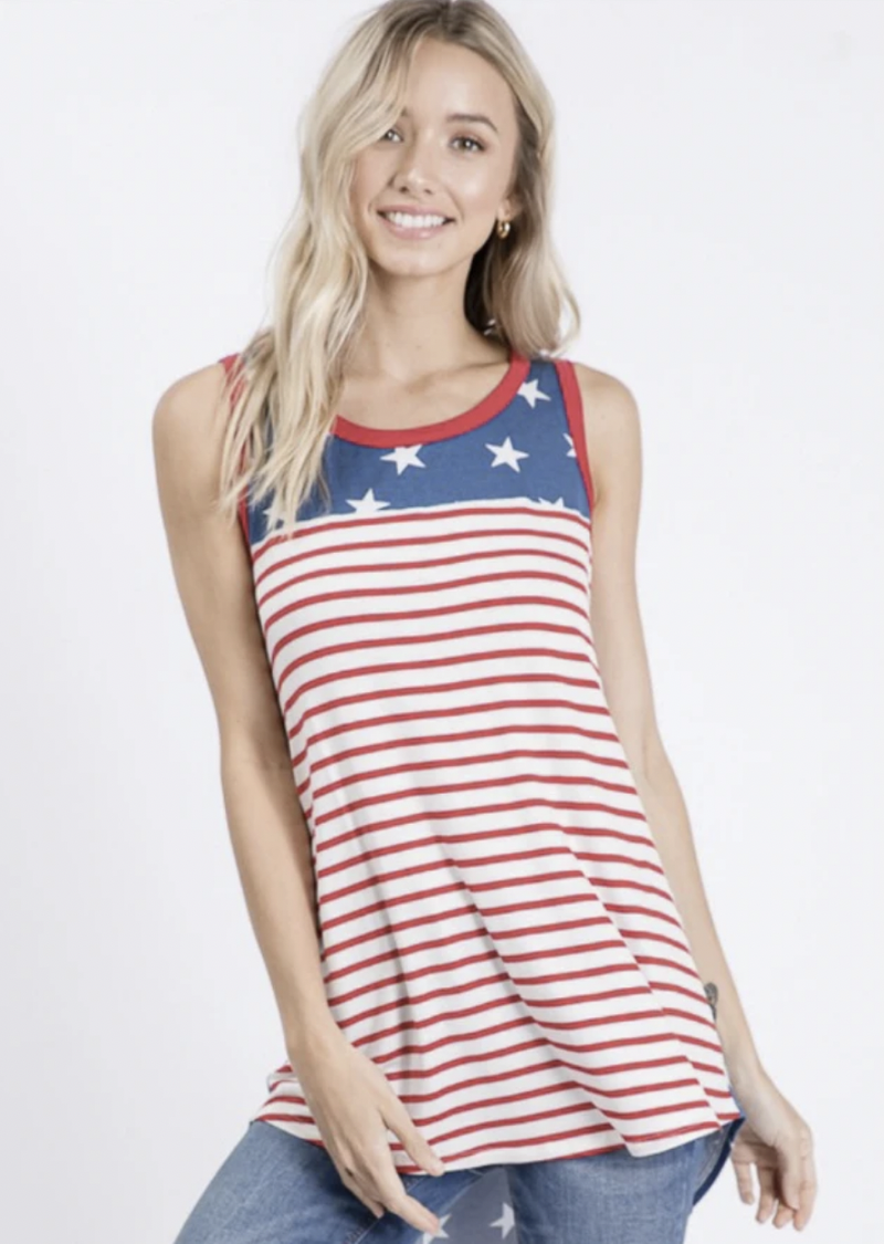 Bring On The Fireworks Tank by Hailey & Co.
