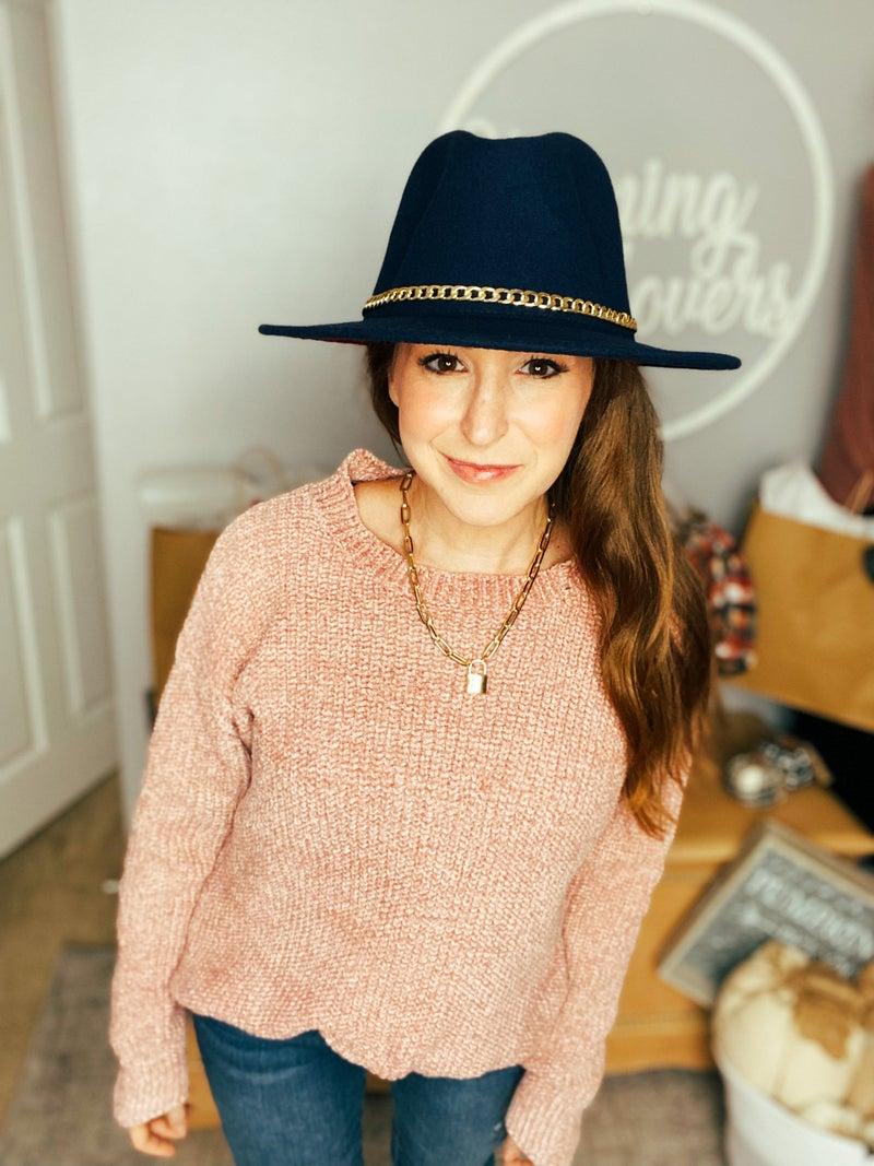 You Make Me Blush Chenille Sweater