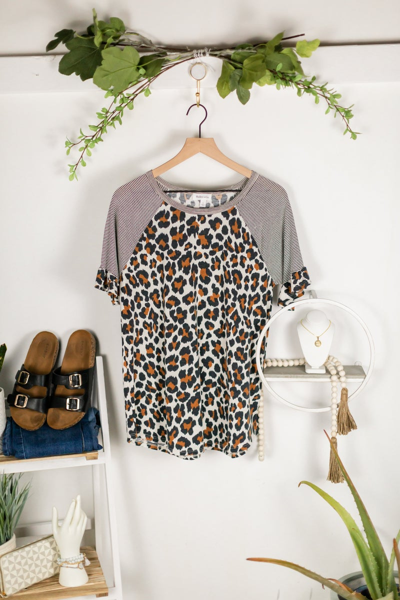 Statement Leopard Top by Hailey and Co.
