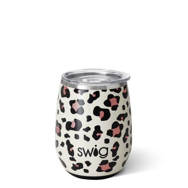 Luxy Leopard Stemless Wine Cup by Swig