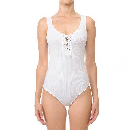 White Laced Dreams Bodysuit
