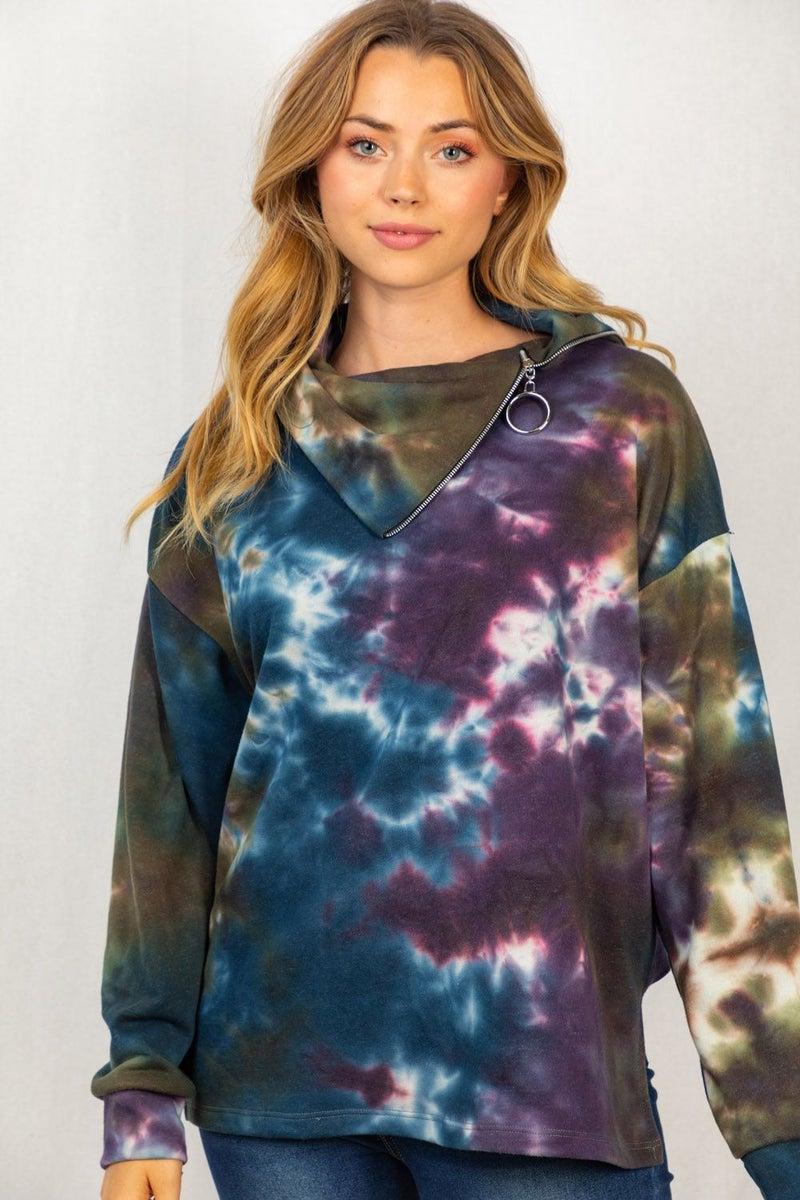 Kirstin Tie Dye Pullover by White Birch