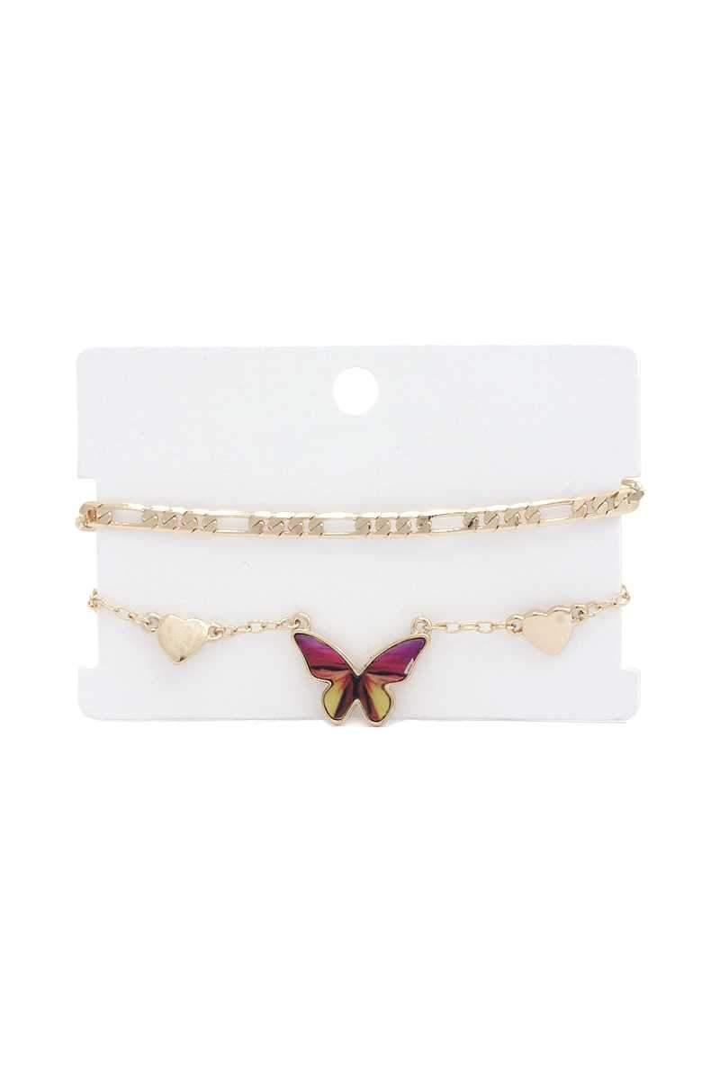 Fly Back Home Butterfly Bracelet Set