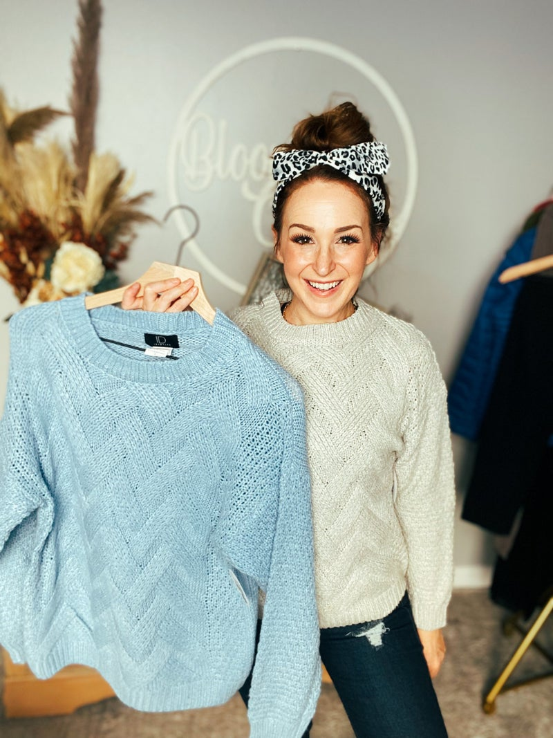 Grey Pave The Way Sweater