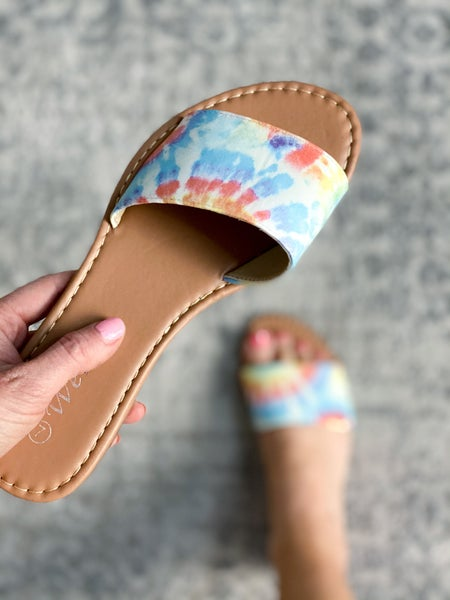 Chill Vibes Tie Dye Slides