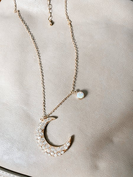 Just A Phase Moon Necklace