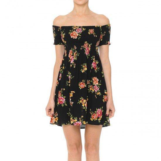 High Potential Off The Shoulder Floral Dress