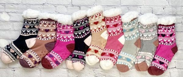 Heart Slipper Socks