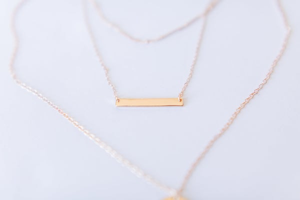 Hammered In Layered Necklace