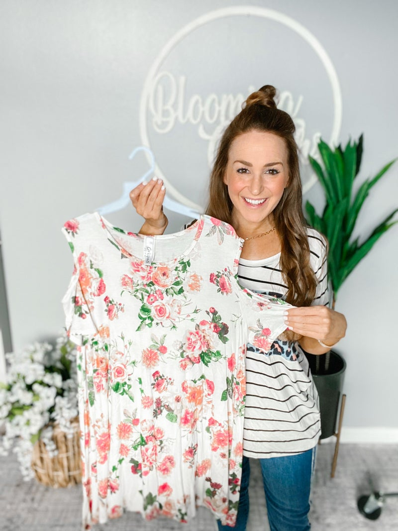 Plus Good To Me Floral Tunic