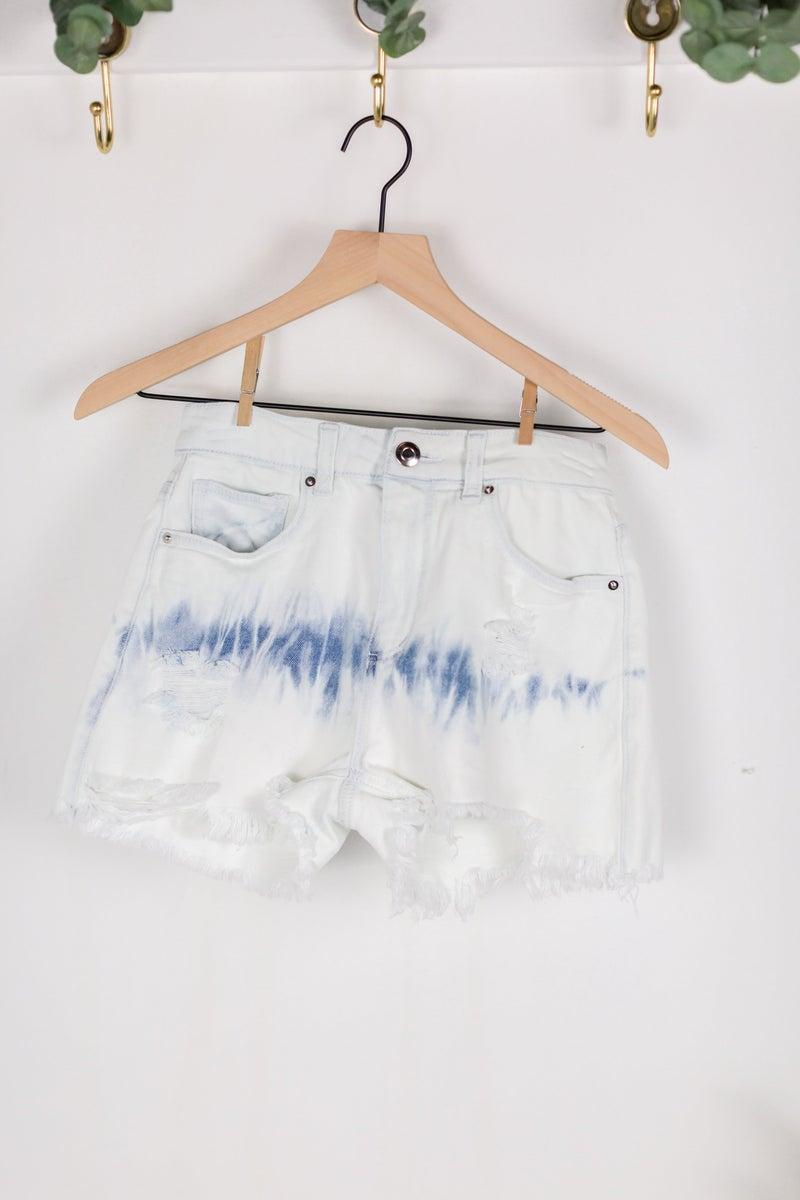 Beach Vibes Denim Tie Dye Shorts