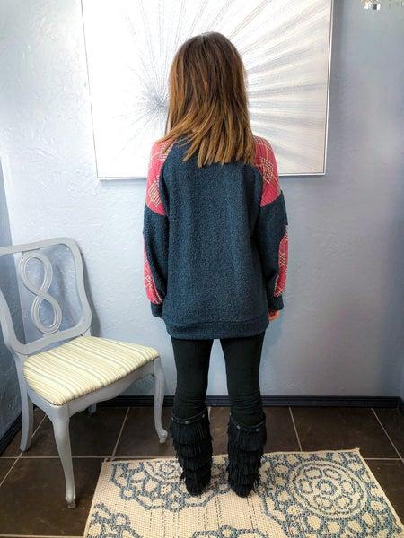 << Spring Plaid Sweater  >> *Final Sale*