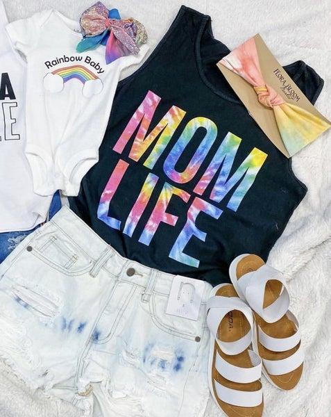 << TIE DYE MOM LIFE TANK >>