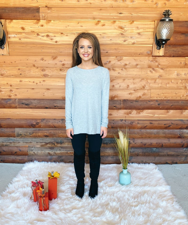 << CLASSIC KNIT LONG SLEEVE TOP >>