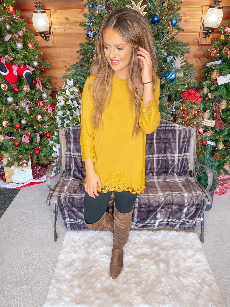 << LACE DETAIL TUNIC >>
