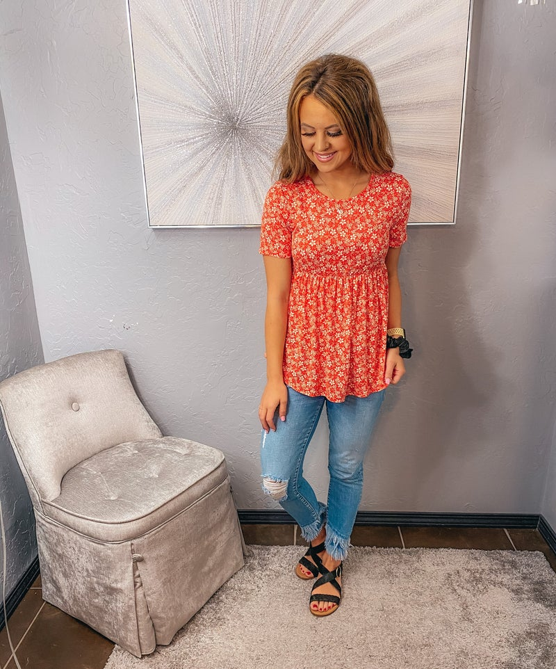 << FLORAL BABY DOLL TOP >>