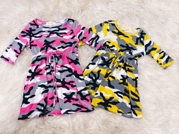 << TODDLER CAMO DRESS >>