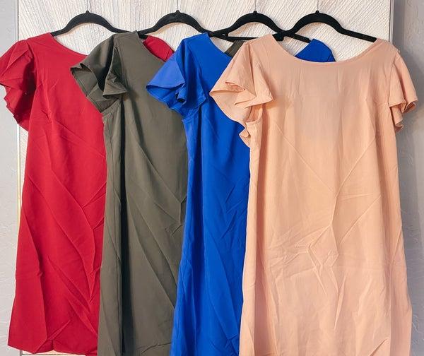 << RUFFLE BACK DRESS >>